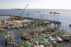 Shrimp Boats And Construction Stock Photos