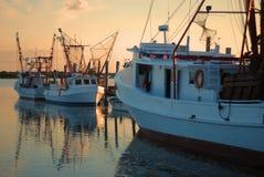 Shrimp Boats at Dawn Stock Photos