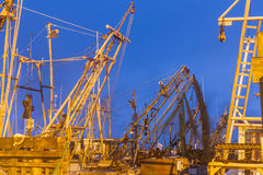 Shrimp boats at dawn Stock Photo