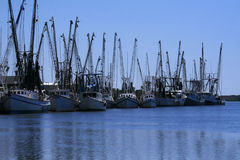 Shrimp boats docked Royalty Free Stock Photography