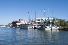 Shrimp boats Royalty Free Stock Photos