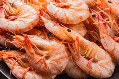 Shrimp boil on wooden table. Shrimp boil on wooden table food background stock photo