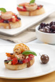 Shrimp Bruschetta Royalty Free Stock Photos