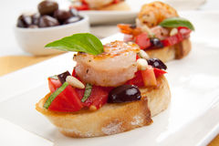 Shrimp Bruschetta Royalty Free Stock Photography