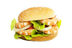 Shrimp burger Stock Images