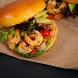 Shrimp Burgers Royalty Free Stock Photos