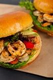 Shrimp Burgers Stock Photos