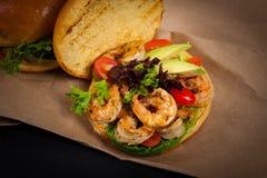 Shrimp Burgers Royalty Free Stock Photo