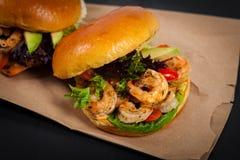 Shrimp Burgers Royalty Free Stock Image