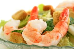 Shrimp Caesar salad Stock Photography