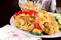 Shrimp cakes Stock Image