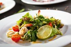 Shrimp and Calamari Salad Stock Photography