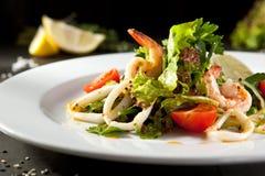 Shrimp and Calamari Salad Royalty Free Stock Images