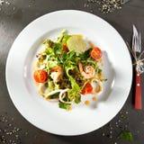 Shrimp and Calamari Salad Stock Photos