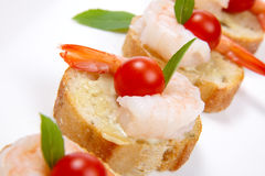 Shrimp Canape Royalty Free Stock Photos