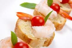 Shrimp Canape royalty free stock photos
