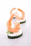 Shrimp canape Royalty Free Stock Image