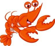 Shrimp cartoon isolated Royalty Free Stock Photography