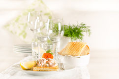 Shrimp and caviar appetizer Royalty Free Stock Photo