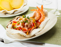 Shrimp ceviche Royalty Free Stock Image