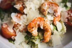Shrimp with cheese. Closeup food background Macro photography Stock Photos