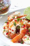 Shrimp with Chili and Lime stock photos