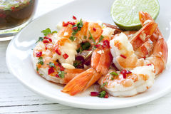 Shrimp with Chili and Lime Stock Image