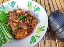 Shrimp chili paste delicious thai style food stock photography