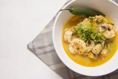 Shrimp chili soup Stock Images
