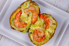 Shrimp Chowder Potato Royalty Free Stock Photos