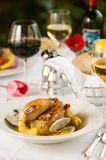 Shrimp and clam seafood appetizer on a white plate. Royalty Free Stock Photo