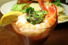Shrimp Cocktail. This is a close up image of shrimp cocktail royalty free stock photos