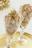 Shrimp cocktail. In cocktail glasses Royalty Free Stock Images
