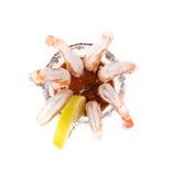 Shrimp Cocktail Apoetizer on White Stock Image