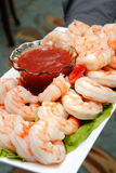 Shrimp Cocktail Appetizer Tray Stock Image