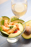 Shrimp cocktail with avocado Royalty Free Stock Photos