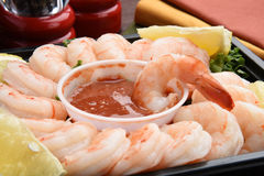 Shrimp cocktail closeup Royalty Free Stock Photos