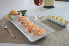 Shrimp Cocktail in Ice Stock Photos