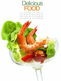 Shrimp Cocktail Isolated on a White Royalty Free Stock Photography