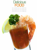 Shrimp Cocktail Isolated on a White . Stock Images