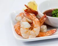 Shrimp Cocktail Isolated on a White . Royalty Free Stock Photo