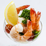 Shrimp Cocktail Isolated on a White . Stock Photography