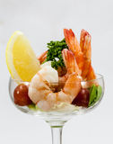 Shrimp Cocktail Isolated on a White . Royalty Free Stock Image