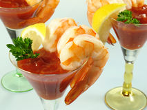 Shrimp Cocktail Martinis royalty free stock images