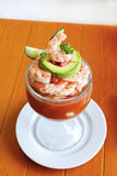 Shrimp cocktail - mexican style stock photo