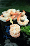 Shrimp cocktail skewer Royalty Free Stock Photos