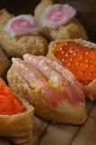 Shrimp Crab Roe sushi Stock Photos