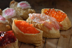 Shrimp Crab Roe sushi Royalty Free Stock Images