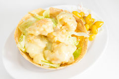 Shrimp Cream Salad Royalty Free Stock Images