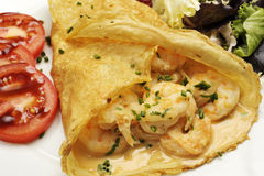 Shrimp crepe stock photography
